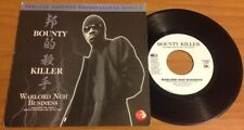 """BOUNTY KILLER / WARLORD NUH BUSINESS - 7"""" (printed in US - 2002) PROMO RARE !!!"""