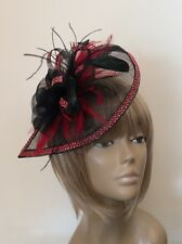 New Design Bespoke Black/Red Hatinator Mother Of The Bride/Groom Weddings