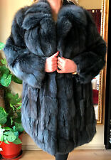 Grey-Blue Fox Fur Coat