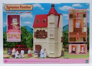 EPOCH Sylvanian Families Red Roof Tower Home Doll House #5400 Sealed
