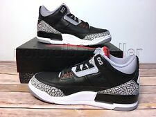 NIB Nike Air Jordan Retro 3 III OG 2018 Black Cement Grey Red 854262 001 Size 10