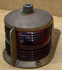 Antique Vintage Perko Chris Craft GarWood Boat Bow Light Starbord And Port