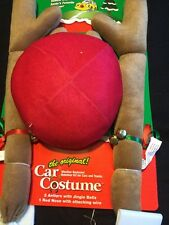 Car Costume Reindeer Antlers Rudolph Nose Jingle Bells New Christmas Decor Vehic