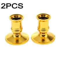 2pcs Household Taper Candle Holders Traditional Shape Fits Standard Candlestick