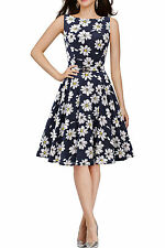 Polyester Boat Neck Party Floral Dresses for Women