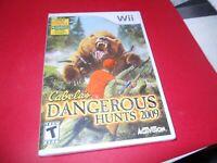 Cabela's Dangerous Hunts 2009 (Nintendo Wii, 2008) NEW Sealed FREE SHIP