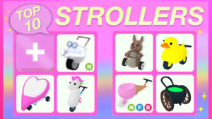 Adopt Me Rares: Strollers & Vehicles (Restocked as of 1/22)