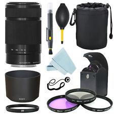 Sony E 55-210mm F4.5-6.3 Lens for Sony E-Mount Black + Filter Kit + Accessor kit