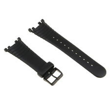 Black Silicone Watch Strap Band Replace for SUUNTO VECTOR with Tools Set