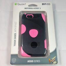 Trident Aegis Series Phone Case Motorola Atrix 3 Black Pink Brand New