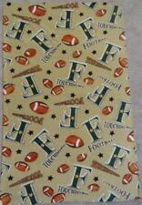 FLEECE FABRIC - Nursery/Toddler Print - Footballs and Touchdowns - 48""