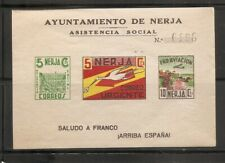 Spanish Civil war/ Nerja  . Souvenir Sheet . Cinderella . MNH