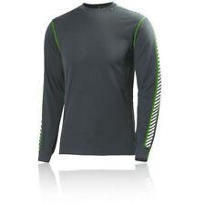 Maglie e top da uomo grigie in maglia per palestra, fitness, corsa e yoga taglia L