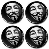 68mm 3D Gel Car Wheel Centre Hub Center Rim Anonymous Silicone Stickers Caps