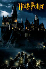 Harry Potter Hogwarts Castle at Night Magic Art Wall Room Poster - Poster 24x36