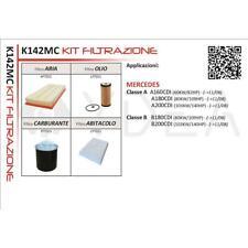 KIT 4 FILTRI TAGLIANDO MERCEDES CLASSE B (W245) 05->11 B180 B200 CDI