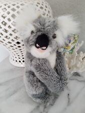 "Koala Plush stuffed realistic Fiesta toy 9"" gray furry animal Plush NWT"