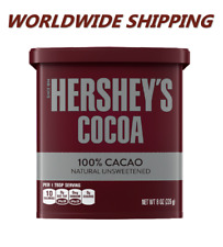 Hershey's Cocoa 100% Cacao Natural Unsweetened 8 Oz WORLDWIDE SHIPPING