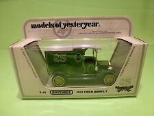 MATCHBOX YESTERYEAR Y-12 FORD MODEL T 1912 - 25 YEARS GREEN - EXCELLENT IN BOX