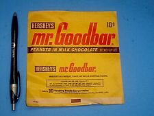 VTG 1960's EARLY 70's 10 CENTS HERSHEY'S MR GOODBAR CHOCOLATE CANDY BAR WRAPPER