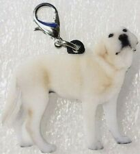 Yellow Labrador Retriever Dog Realistic Acrylic Purse Charm Zipper Pull Jewelry