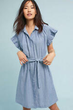 New Anthropologie Piper Flutter-Sleeve Shirtdress by Isabella Sinclair. Large