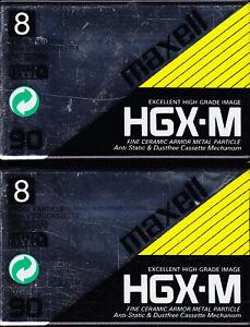 2 x Maxell HGX-M 8mm Video8 - 90 min. Videokassette NEU/OVP Blank Tape rare new