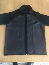 MENS ZARA LEATHER AND KNITTED CARDIGAN BLACK XL