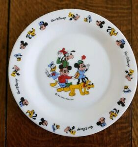 Vintage Arcopal Walt Disney Side Plate Kids Retro Mickey Mouse