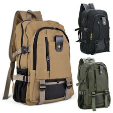 Men Vintage Canvas Backpack Rucksack Travel Hiking Schoolbag Laptop Camping Bag