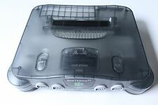 Nintendo 64 N64 Funtastic Smoke Grey Clear Black Console System Only Tested Rare