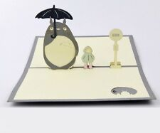 3D My Neighbour Totoro Japanese Greeting Cards Pop Up Card Kawaii