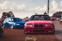 BMW E36 Coupe FRONT Overfenders Fitment Lab WideBody Drift - PHASE 2 (NEW model)