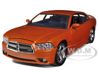 2011 DODGE CHARGER R/T HEMI METALLIC ORANGE 1/24 MODEL CAR BY MOTORMAX 73354
