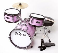 "3PC PINK Drum Set Starter Band 12"" Great Gift KIDS Learn To Play 2-5 Year Old"
