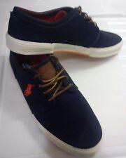 Men's Polo Ralph Lauren FAXON Navy Canvas Lace-up Sneakers/Size 11.5 D