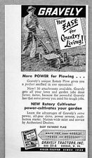 1957 Print Ad Gravely Tractors Rotary Cultivator Dunbar,WV