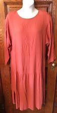 Vintage Chex California Family Paprika 2-pc Dropwaist Lagenlook Dress, Sz 16W
