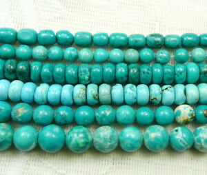 clearance-15.5''treated natural turquoise round rondelle gemstone beads blue red