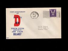 WWII Patriotic D-Day Invasion 1 Year Louisville KY June 6 1945 Cover 5o
