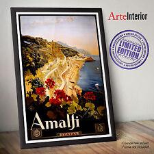 AMALFI Vintage Travel Poster fino a 70x100 cm - Alta Qualità ENTRA