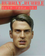 1/6 Chris Evan Captain America 6.0 Head Sculpt For Hot Toys Body ☆SHIP FROM USA☆