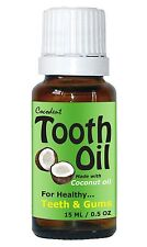 Coconut Oil Peppermint Spearmint Arnica Tooth Oil for Teeth and Gums