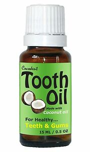 Cocodent Tooth Oil with MCT Coconut Oil and Arnica for Tooth Decay - No Fluoride