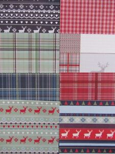"""8 x Papermania Christmas In The Country 6"""" x 6"""" Papers Set 2 For Cardmaking"""