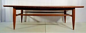 Vintage Mid Century Modern Surfboard Style Coffee Table Retro 1960's Formica Top