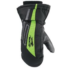Arctic Cat Youth Extreme Insulated Leather Palm High Cuff Mitts - Green 5292-07_