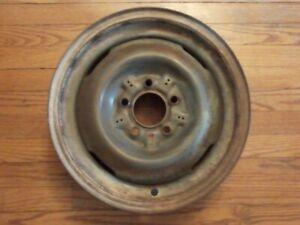 Vintage 1950s Budd Steel Wheel 15X5K Rim Hudson Nash Rambler Original 54 55 56