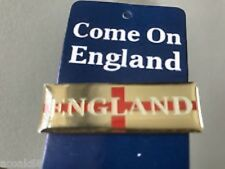 "ENGLAND METAL PIN BADGE "" COME ON ENGLAND "" RECTANGLE 48 X 15 MM ST. GEORGE'S"