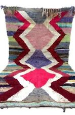 Beautiful Rug Berber  Boucerouite Kilim Hand Knotted Carpet  Home 6.9' X 3.7' F